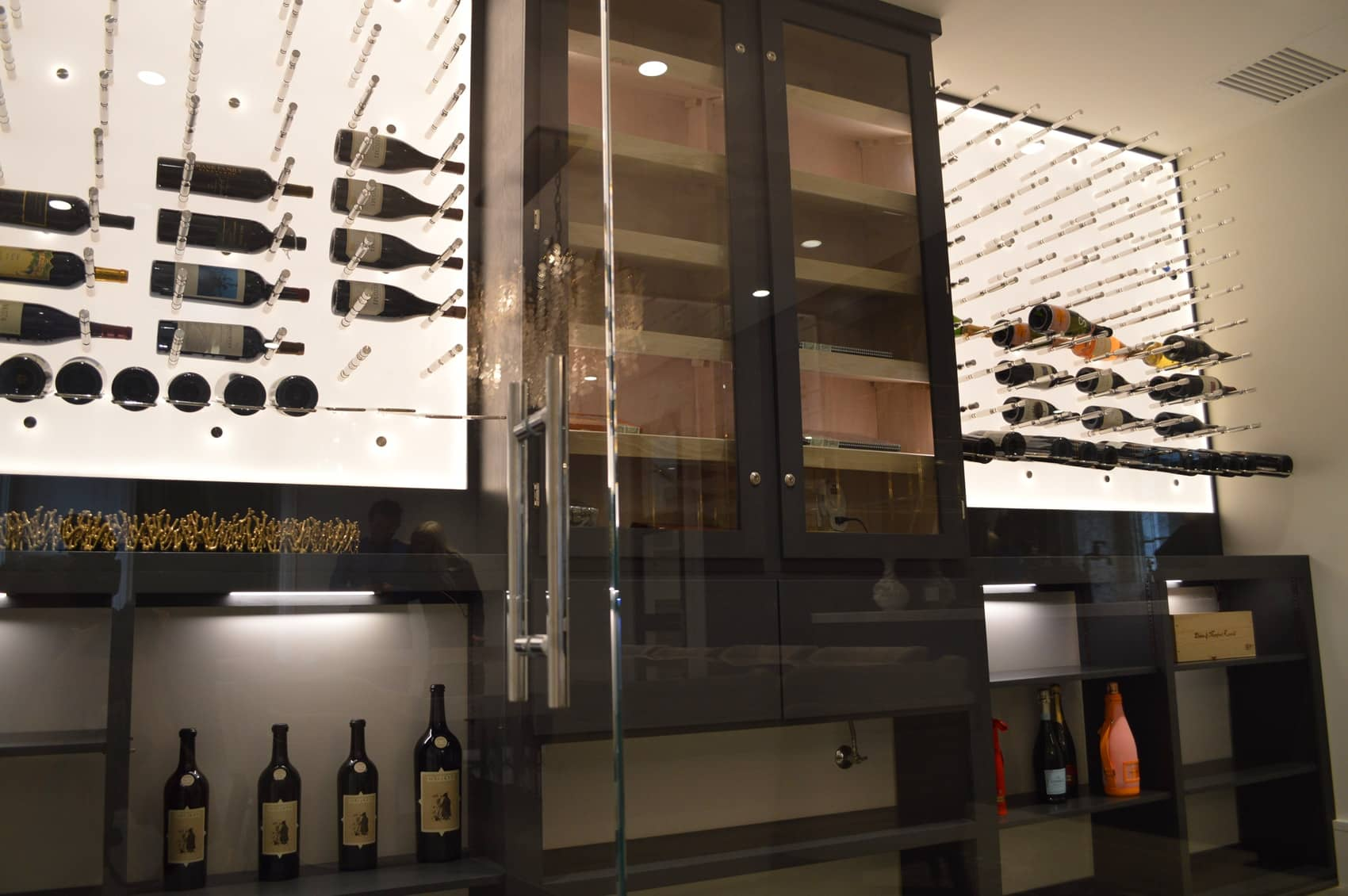 Aside from the wine pegs, wine shelves were also installed to increase the capacity of the wine cellar.