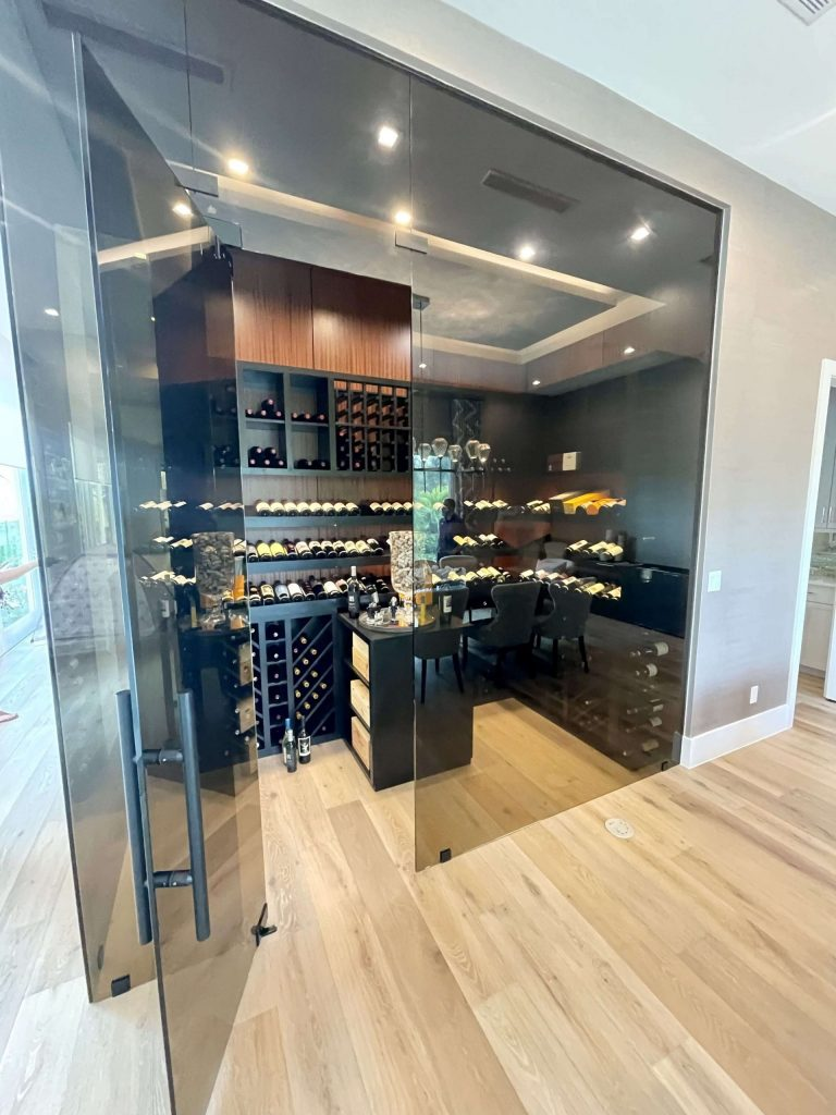 Held Wine Cellar Glass Wall In Florida