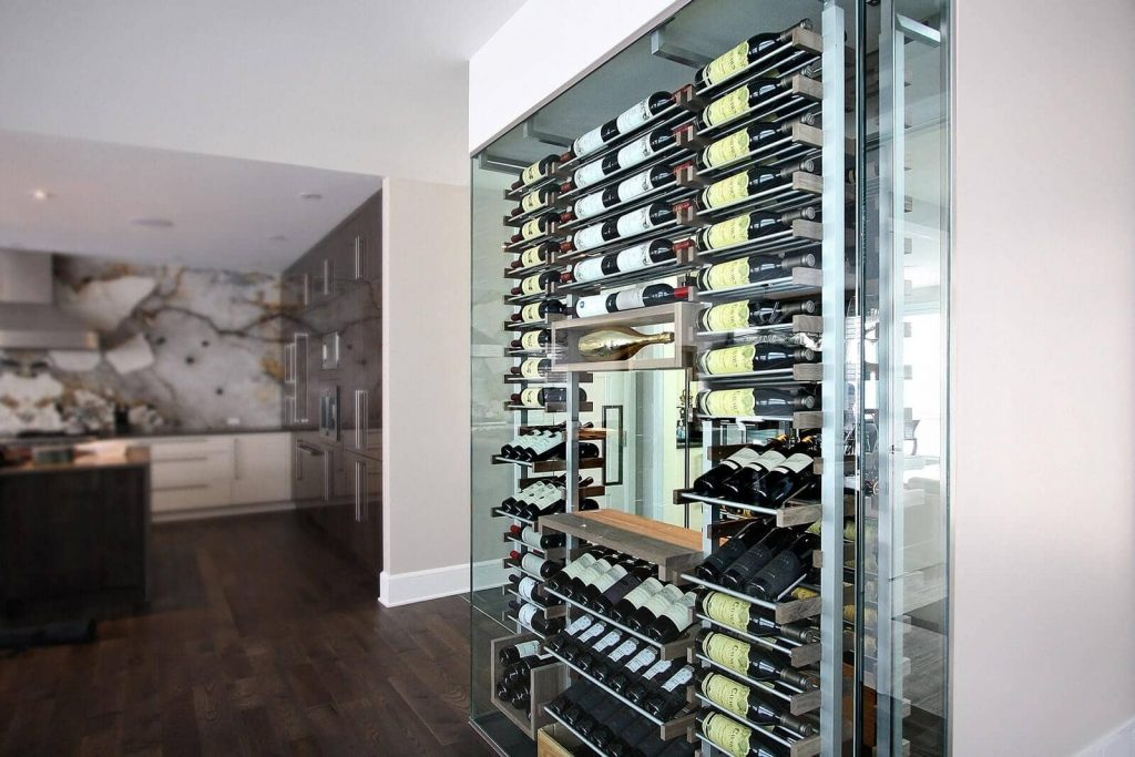 Priest Ranch Wall Wine Cellar In Los Angeles
