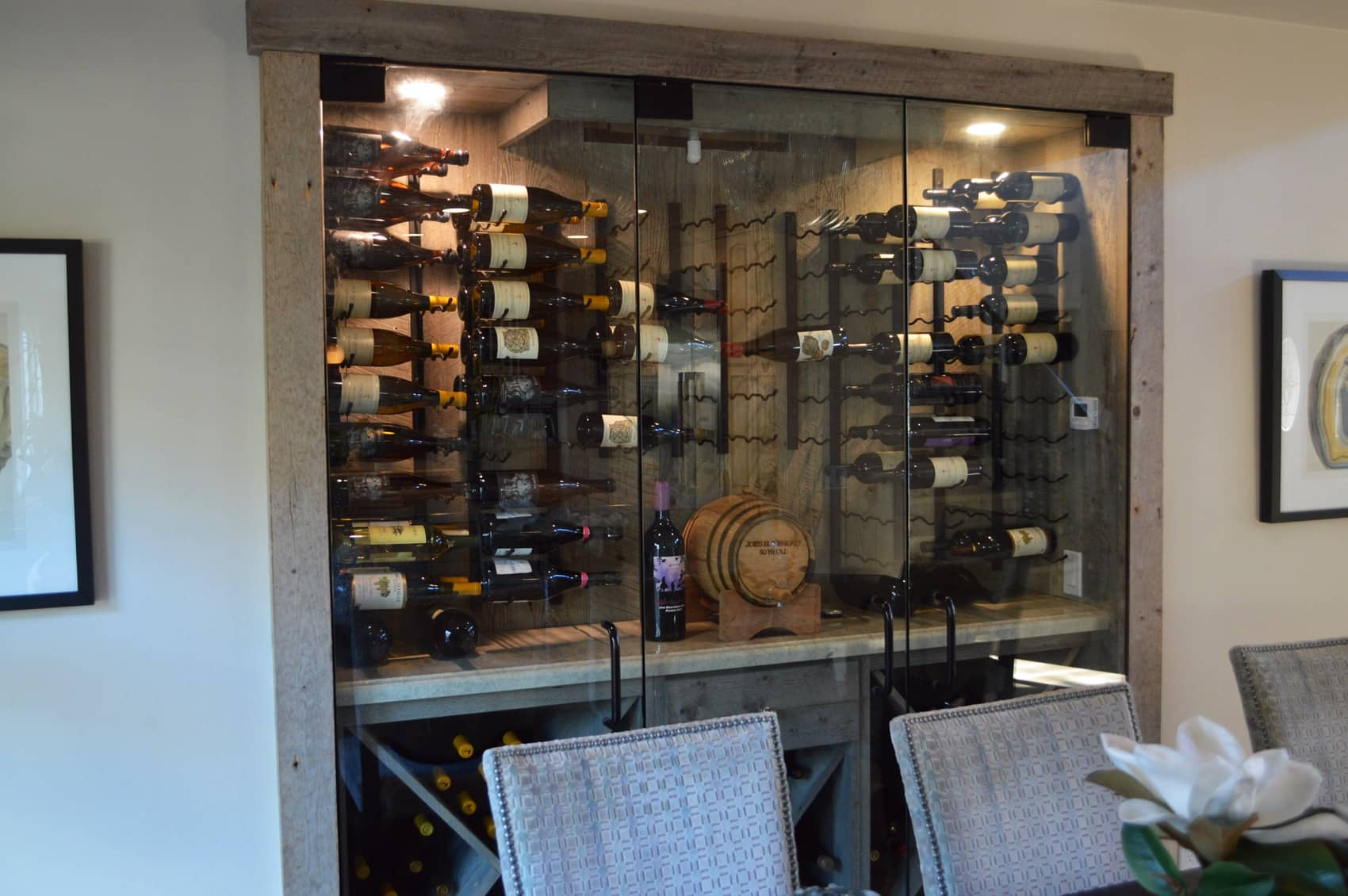 Variations in the shapes, type and size of the wine racking system gives the owner the flexibility on what of wine he could store in it.