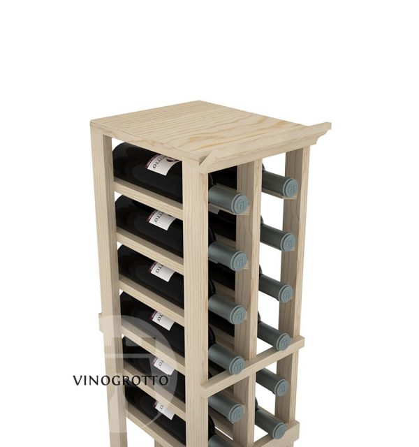 A Solid Top Shelf for 2 Column Vinogrotto Display Racks can be sold separately