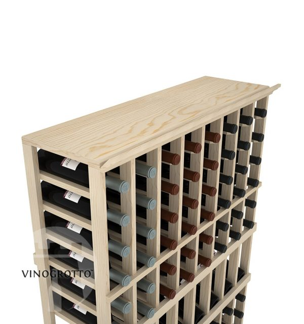 A Solid Top Shelf for 8 Column Vinogrotto Display Racks can be sold separately