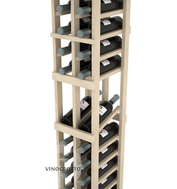 This is a closer look of 8 foot combo 2 Column Display Rack by Vinogrotto