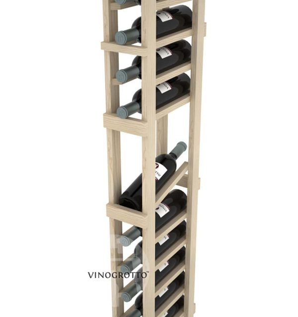 This is a closer look of a 7 foot combo 1 Column display wine rack by Vinogrotto