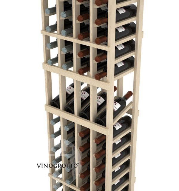 This is a closer look of a 7 foot combo 4 Column display wine rack by Vinogrotto
