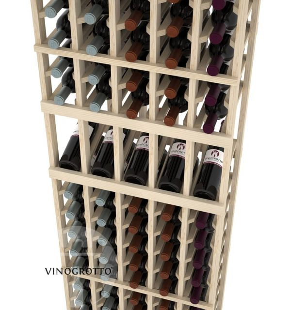 This is a closer look of a 7 foot combo 5 Column display wine rack by Vinogrotto